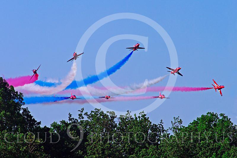 Red Arrows 00046 Red Arrows BAE Hawk British RAF by Stephen W D Wolf.JPG