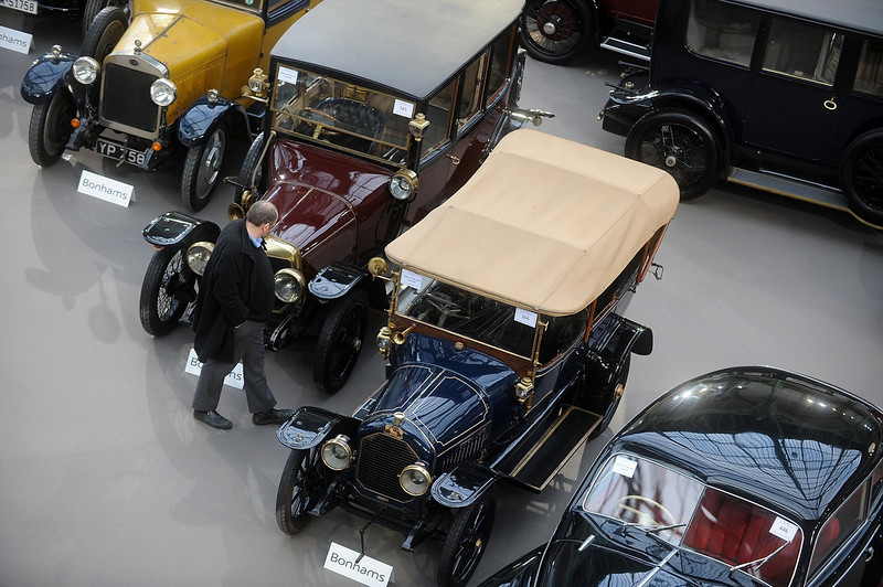 . Vintage Rolls Royce cars are displayed  during an exhibition, by Bonhams auction house, at Le Grand Palais on February 5, 2014 in Paris, France.  (Photo by Antoine Antoniol/Getty Images)