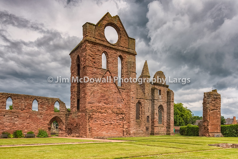 Ancient Ruins Arbroath Abbey Scotland