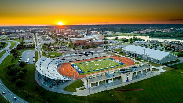 210365 Athletics, Spine, Aerials, Ellicott, Fieldhouse, UB Stadium