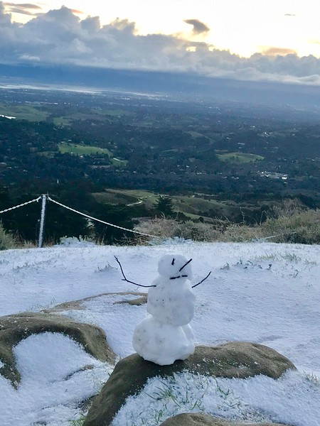 Snowman on Windy Hill