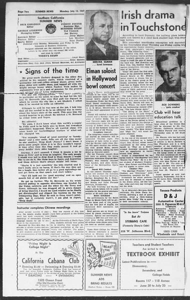 Summer News, Vol. 2, No. 9, July 14, 1947