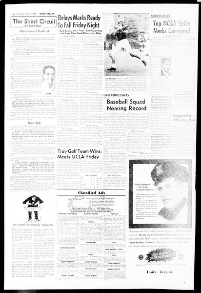 Daily Trojan, Vol. 49, No. 118, May 14, 1958