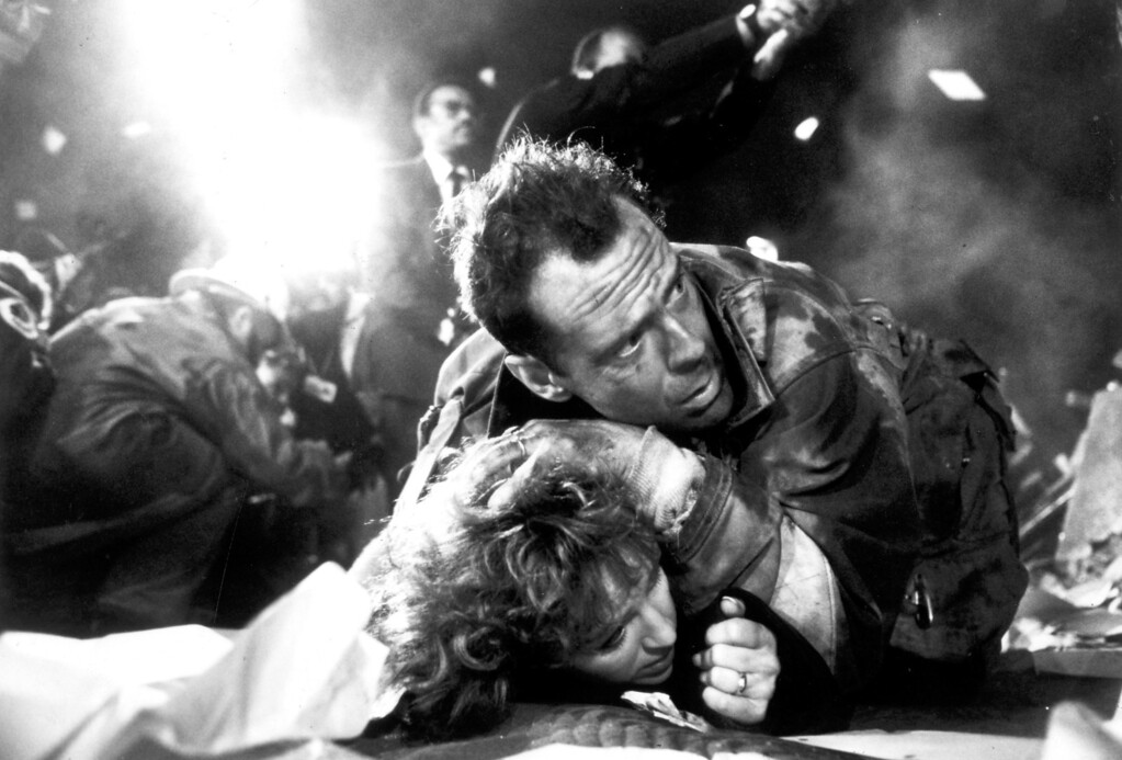 """. The first \""""Die Hard\"""" movie starring Bruce Willis as New York City Detective John McClane is released on 7/15/88.  (L.A. Daily News file photo)"""