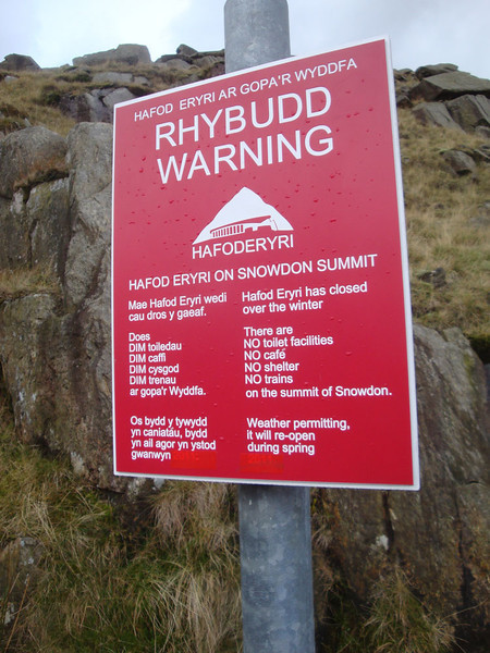 ... who had literally just planted this sign, whilst I was on the trail, praying for the summit cafe to be open. NOW you tell me !@§*!!!!!