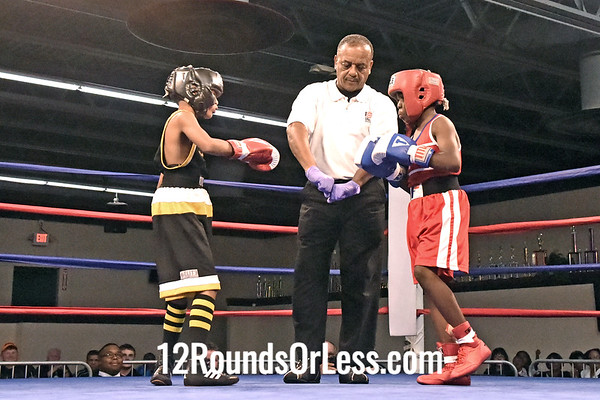 "Bout 4 Latrell ""Shoe Shoe"" King, Blue Gloves, Cleveland -vs- Travell ""Goo"" Fain, Red Gloves, Rubber City BC, Akron, 65 lbs"