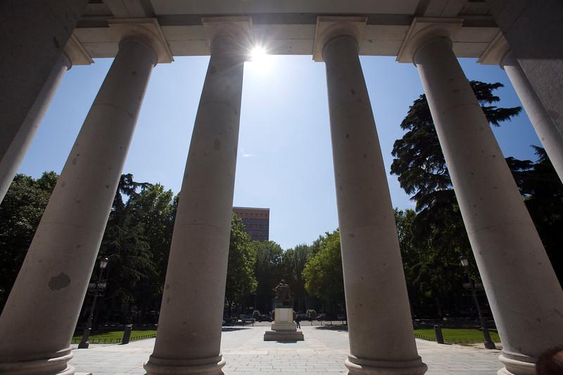 Facade columns, Prado Museum, Madrid, Spain