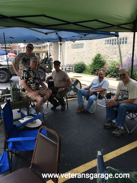 Brian Petlon (MV Enthusiast), Bruce Haffner (MV Owner), Tom Hawken (MV Owner), Mario Gomez (MV Enthusiast / Volunteer) and Richard Mix (MV Owner)