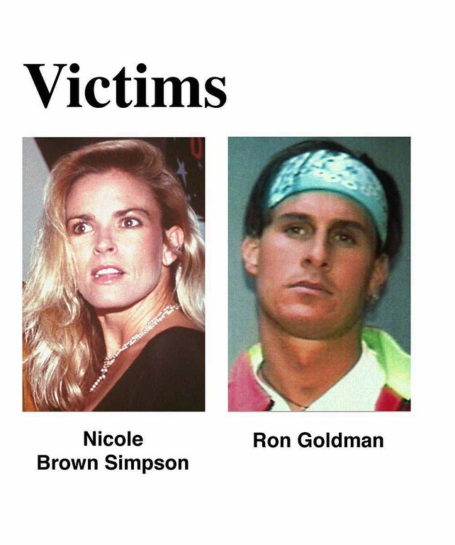 . Undated file photos of Nicole Brown Simpson and Ron Goldman. (AP Photo/files)