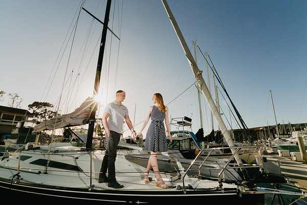 Breah and Josh | Dana Point Harbor Engagement
