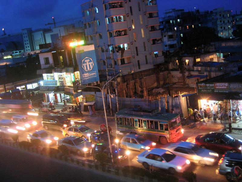 rush hour on the main road outside my neighborhood