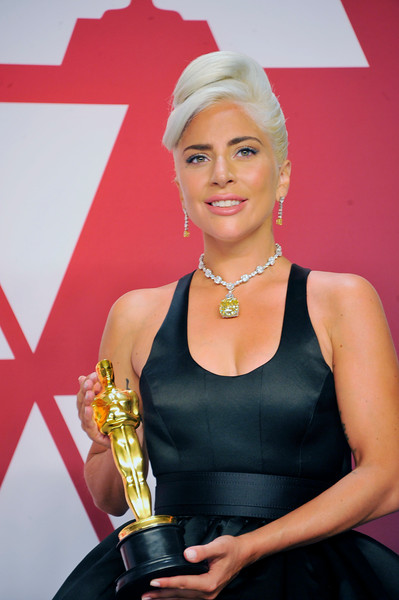 """ACADEMY AWARDS 91ST OSCARS PRESSROOM HELD AT THE LOWES HOTEL IN HOLLYWOOD CALIFORNIA ON FEBRUARY 24,2019. LADY GAGA MUSIC ORIGINAL SONG """"SHALLOW"""" PHOTOGRAPHER VALERIE GOODLOE"""