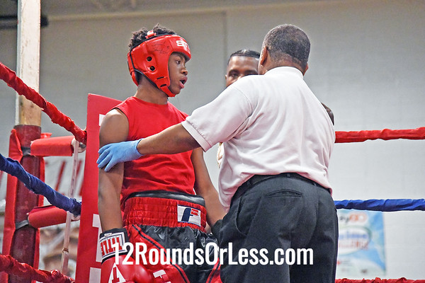Bout #4:  Jasire Riley, Riley Boyz BC, Cleveland, OH   vs   Marshawn Heard, Little Giants BC, Cleveland, OH  -  132 Lbs.
