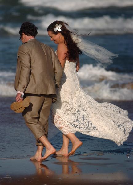 Beach wedding in Melbourne, Florida.
