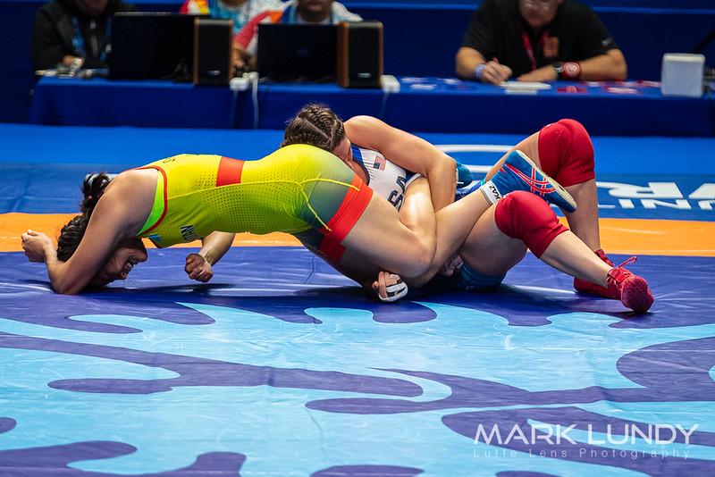 Champ. Round 2: Adeline Maria Gray (United States) over Elmira Syzdykova (Kazakhstan)  •  TF 10-0 - 2019 World Championships