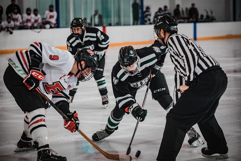 Holy Family Boys Varsity Hockey vs. Elk River, 12/27/19: Grant Limke '21 (9)
