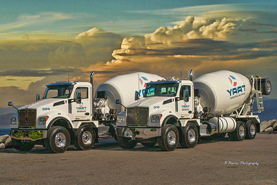 Kenworth YAAT Concrete Trucks Photo Shoot