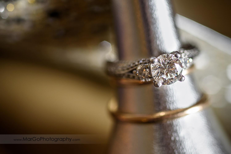 wedding rings in silver shoe