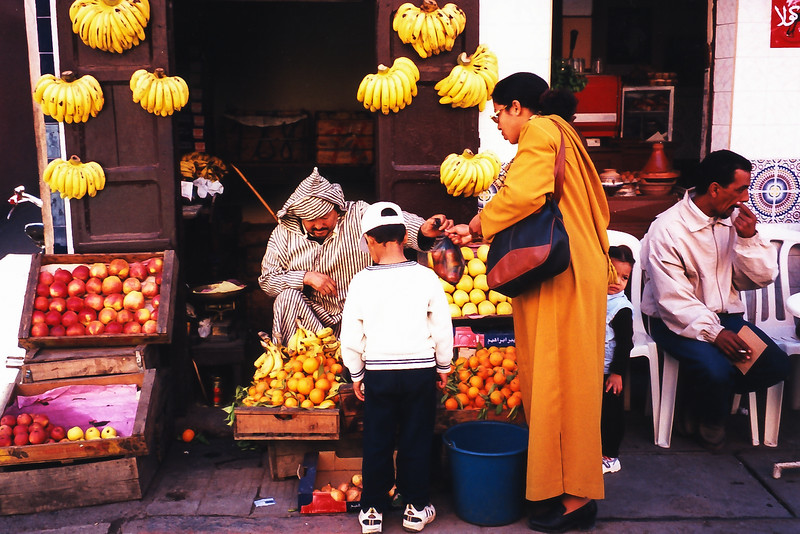 Shopping at the Market in Marrakech, Morocco, 1999