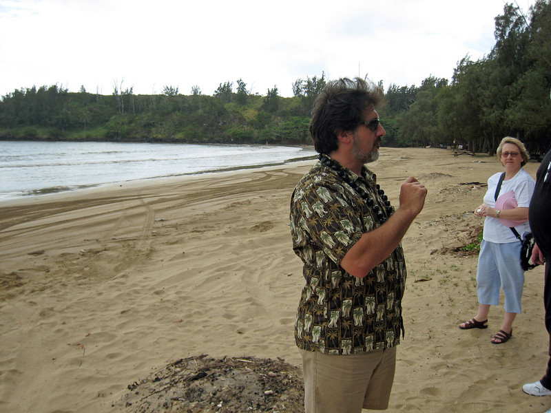 Our Guide at Hanamaulu Bay