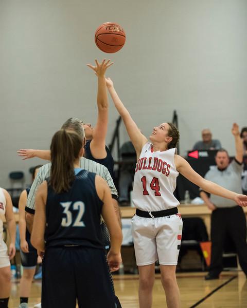2019 Girls JV Basketball:  Hall-Dale vs Dirigo