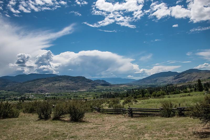 Looking south toward Osoyoos in the Okanogan Valley