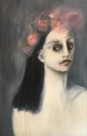 """""""Woman in Bloom"""" (oil) by Julie Feldman"""