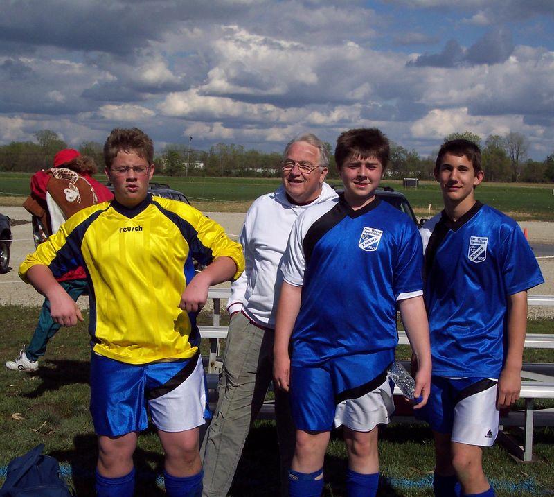 Dane, Grandpa Deardorf, Robbie, and Jason