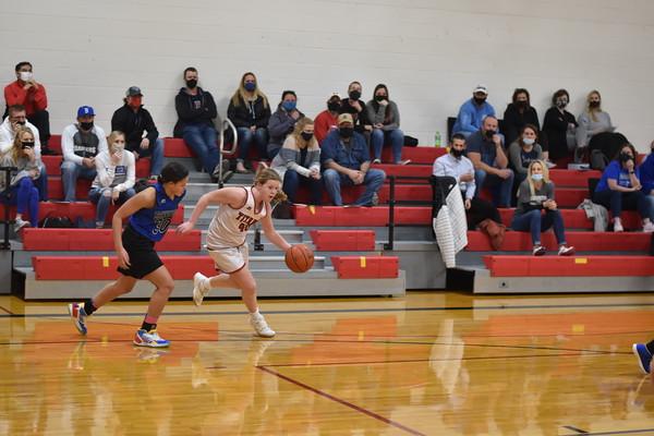 7th grade girls basketball vs. Bennington