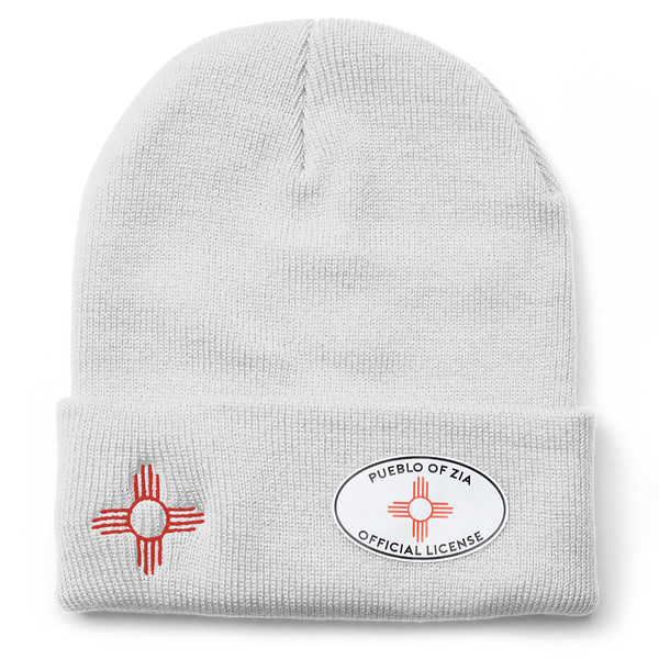 Outdoor Apparel - Organ Mountain Outfitters - Hat - Zia Sun Symbol Beanie White.jpg