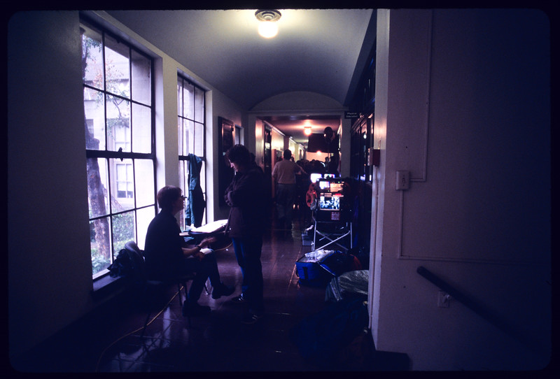 Motion picture shoot (Open window), at USC [University of Southern California], Los Angeles, 2004