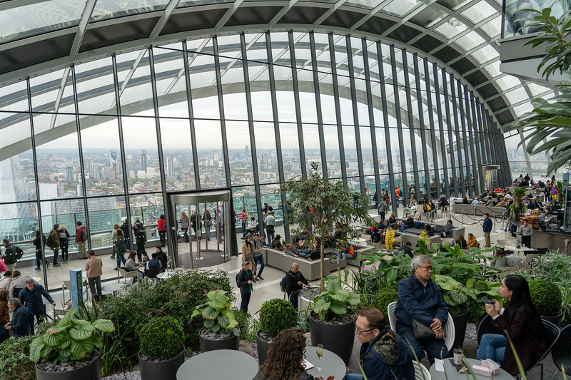 Inside the Sky Garden in London