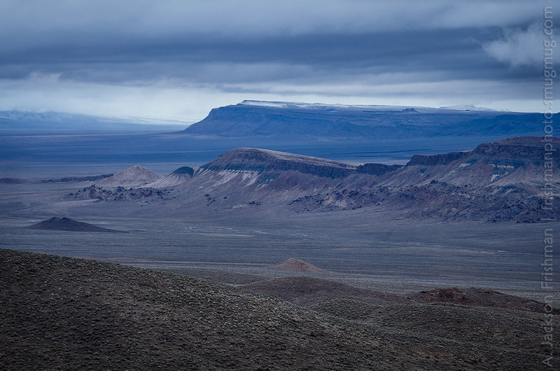 Stormy winter dawn in the Pancake Range, Nye County, Nevada, March 2014.