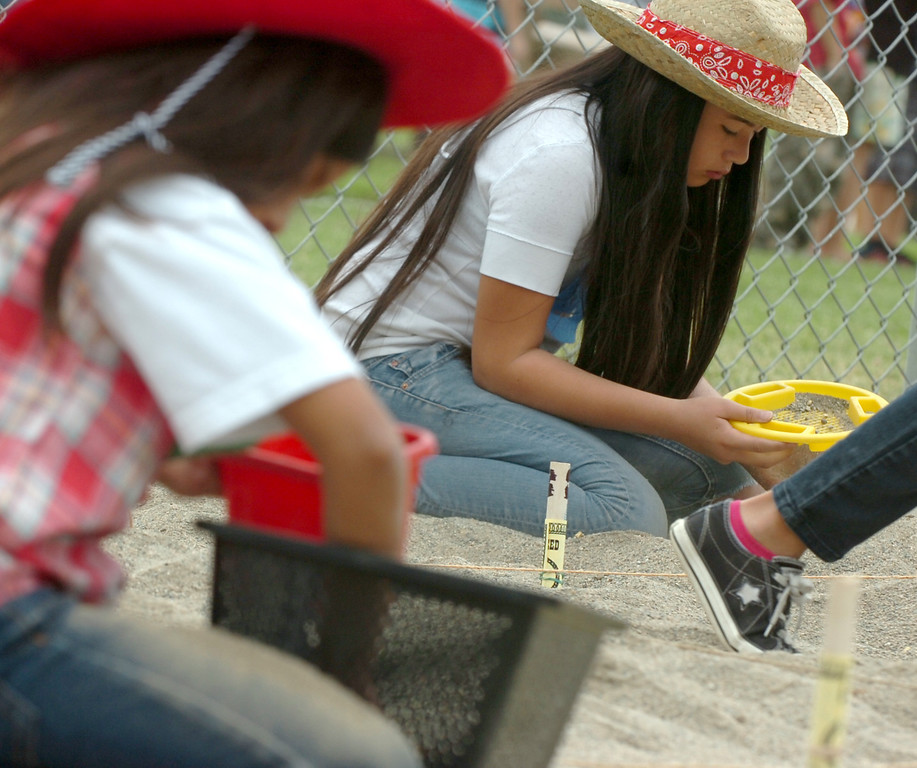 . Gold Rush Day at Sierra Vista Elementary School in Upland May 17, 2013. About 60 students paned for gold while learned all about the Gold Rush at the school. (Thomas R. Cordova/Staff Photographer)