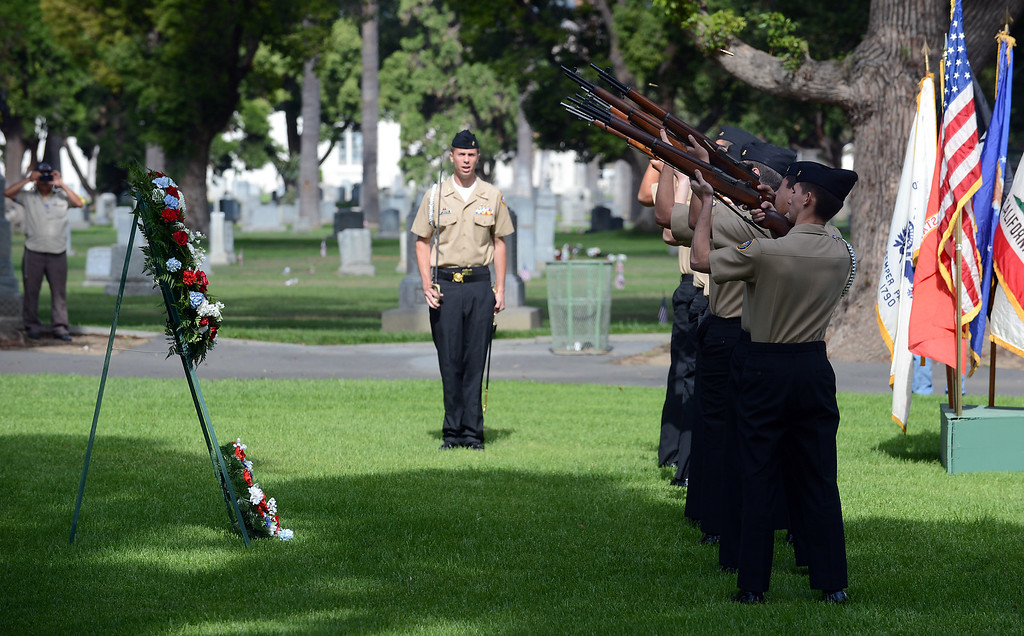 . Memorial Day services Monday, May 27, 2013, at Pomona Valley Memorial Park in Pomona. Jennifer Cappuccio Maher/Staff Photographer