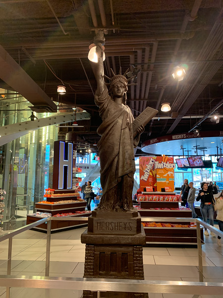 Chocolate State of Liberty at the Hershey Store