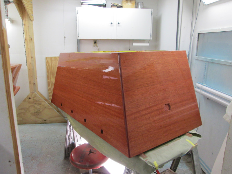 Engine box with varnish.