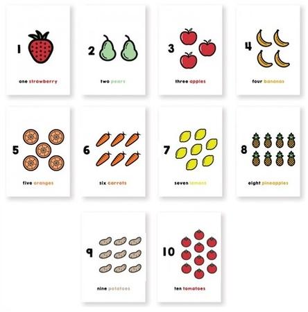 (G29) 10 Fruits and Veggies