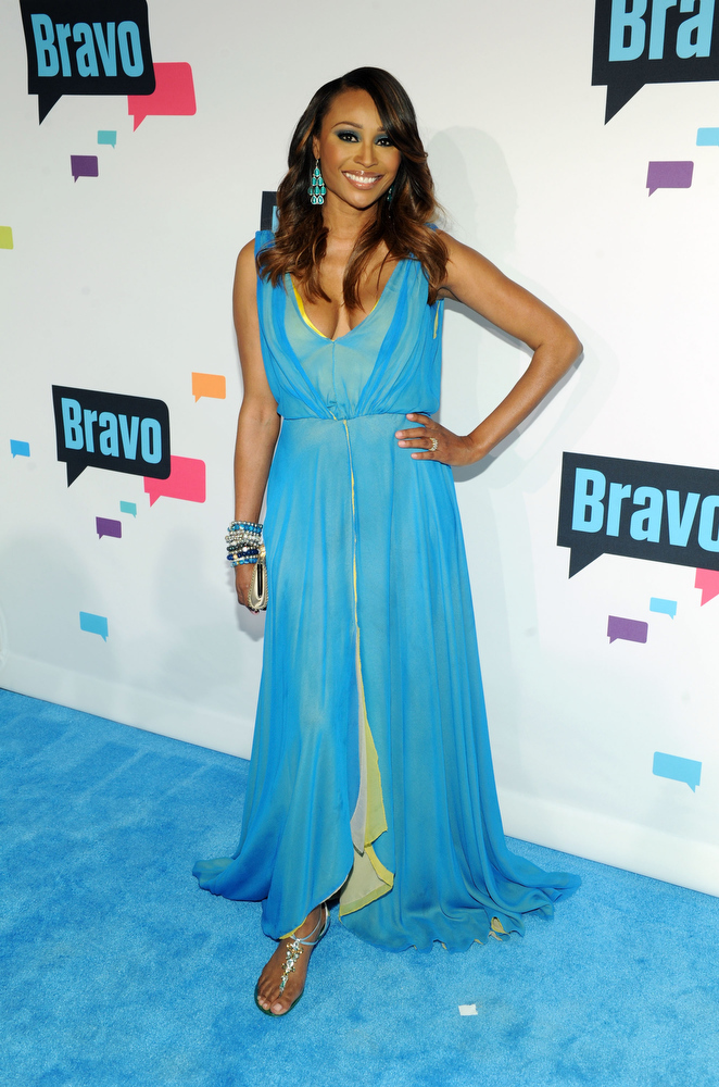 . Cynthia Bailey attends the 2013 Bravo New York Upfront at Pillars 37 Studios on April 3, 2013 in New York City.  (Photo by Craig Barritt/Getty Images)