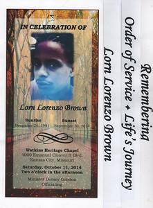 In Celebration of Lorn Lorenzo Brown Kansas City, MO Oct 11, 2014
