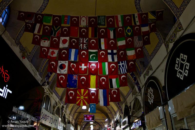 Flags in Grand Bazaar!