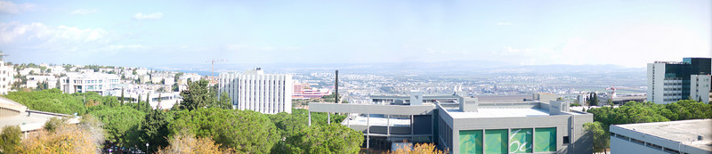 View of Haifa and the Technion Campus from the President's Office.