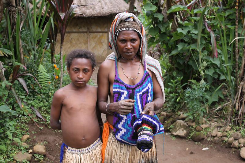 Napa village woman with woven bilum