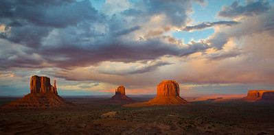 Ken Bichel - Sunset Storm Monument Valley