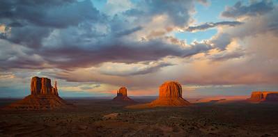 Ken Bichel - Sunset Storm Monument Valley