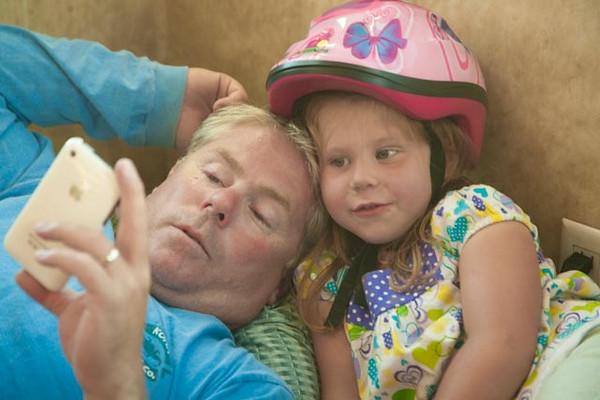 David Boshell and daughter Lili.