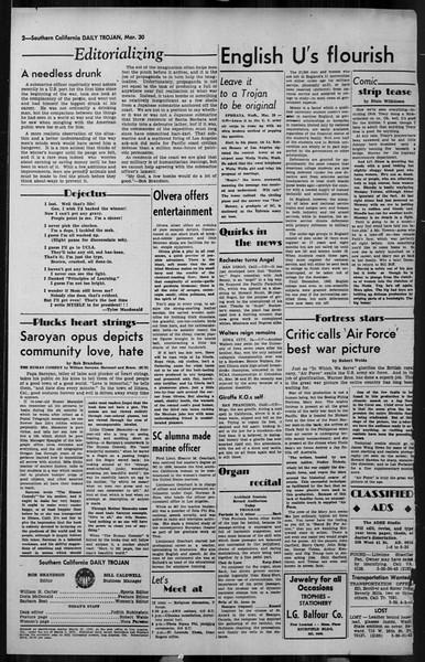 Daily Trojan, Vol. 34, No. 115, March 30, 1943