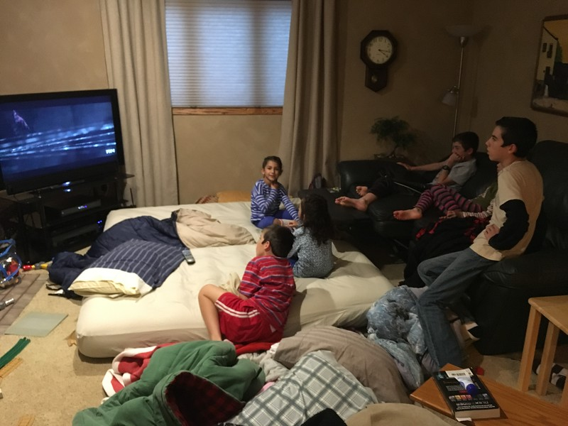 The kids rule the basement.