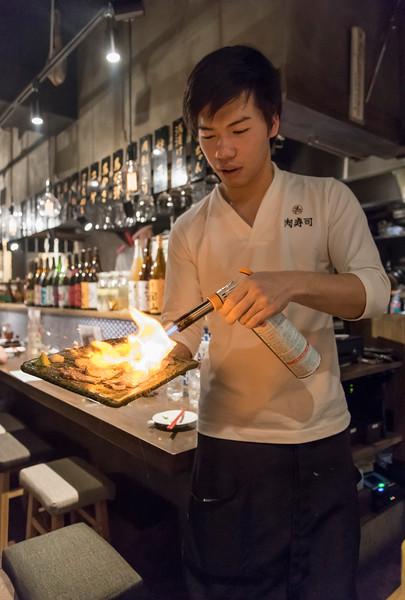 Waiter with Blowtorch, Kabukicho