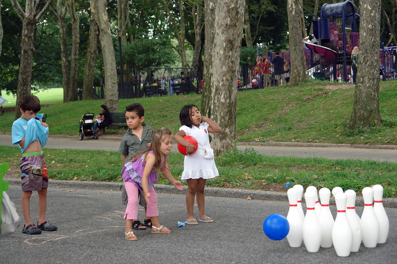 STREET GAMES    Bowling, Chess, Checkers, and Hopscoth